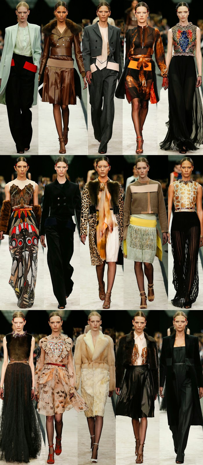 Givenchy by Riccardo Tisci fall winter 2014 runway collection, PFW, FW14, AW14, Paris fashion week