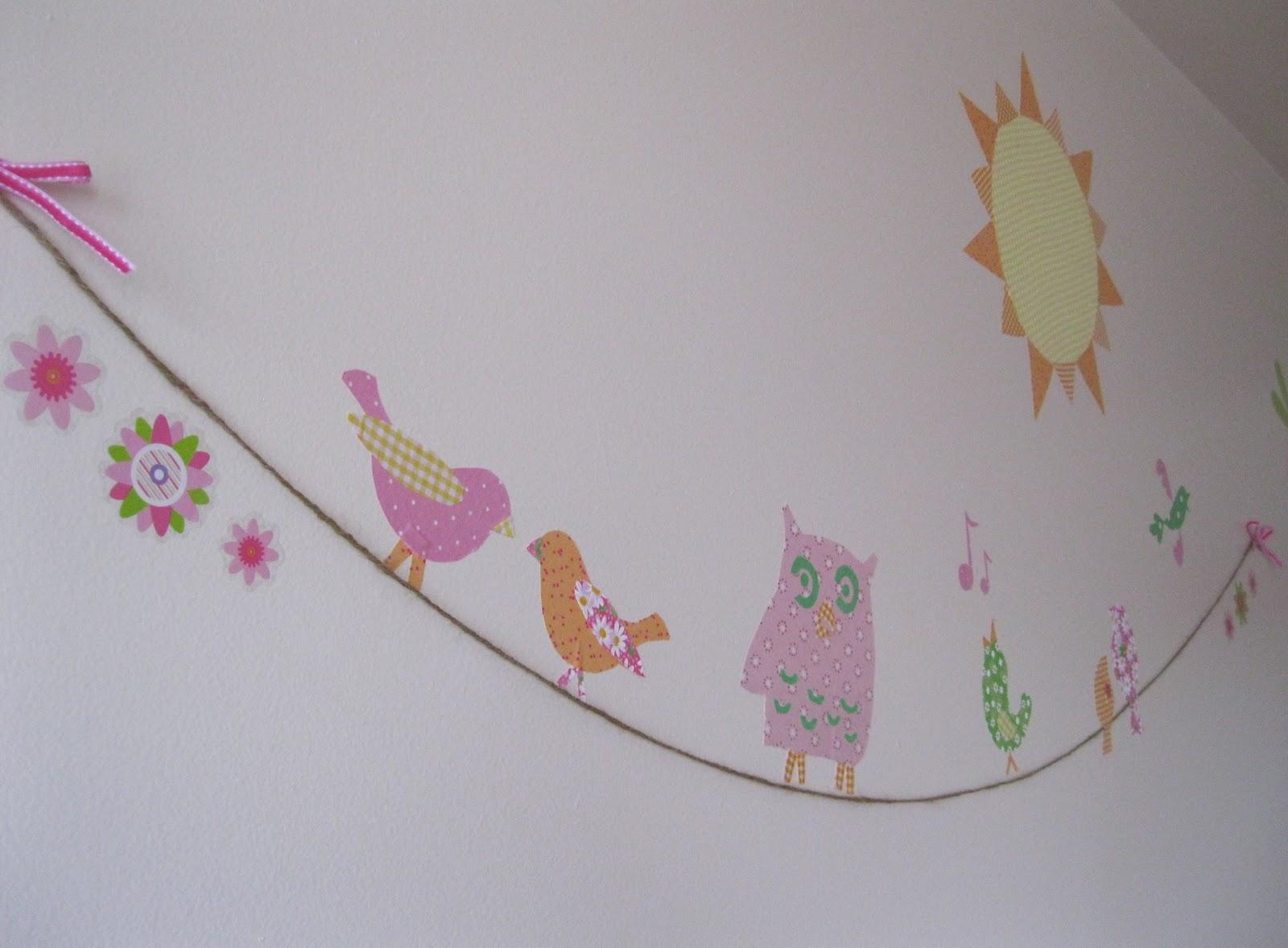 Fabric tree nursery decor peek a boo pages patterns for Bird nursery fabric