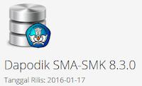 Aplikasi Data pokok pendidikan tingkat SMA-SMK dapodikmen versi 8.30 akhirnya dirilis.
