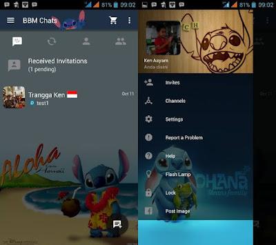 BBM Mod Stitch Versi 2.10.0.31 apk Terbaru