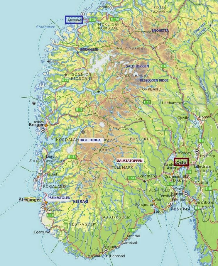 Noruega viajes mapa for Oficina de turismo de noruega
