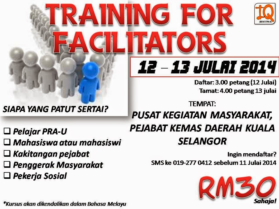 TRAINING FOR FACILITATORS