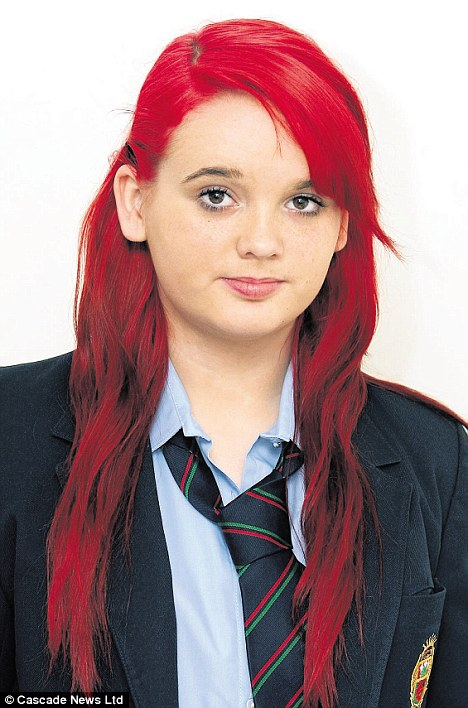 Young girl suspended for copying rihanna red hair