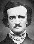 1848 black and white photograph of Edgar Allan Poe