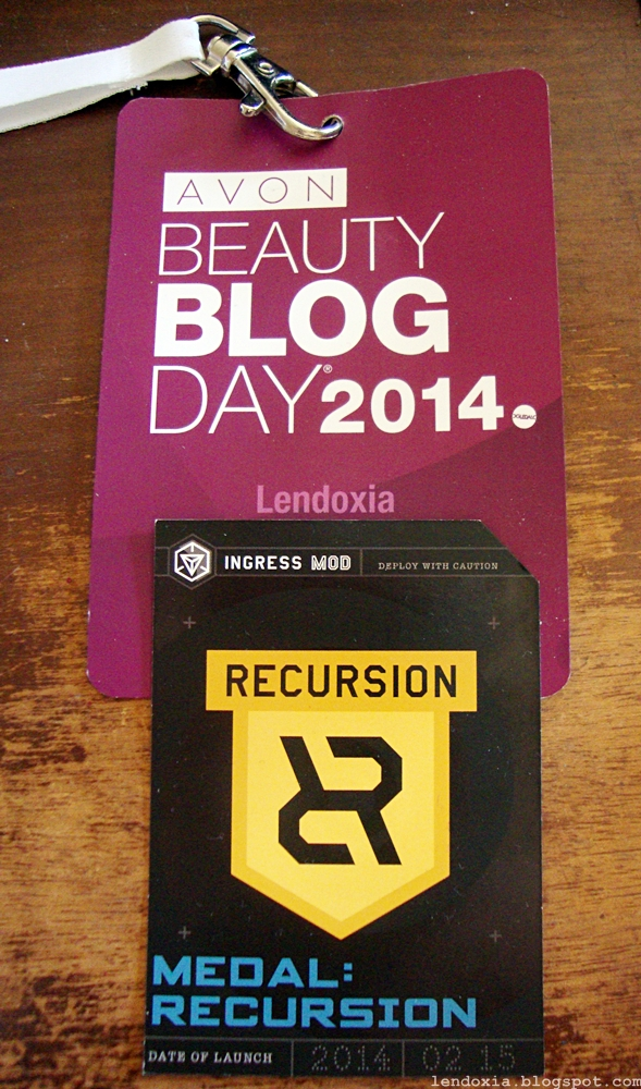 avon beauty blog day 2014 ingress recursion kartice