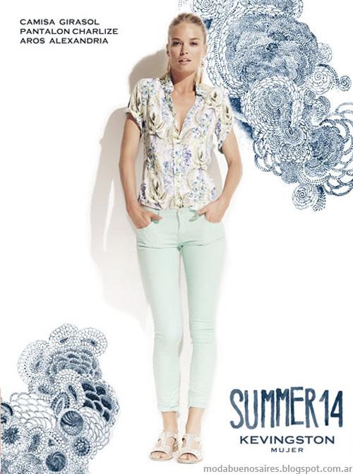 Kevingston Mujer 2014. Moda 2014. Blusas, camisas, pantalones de verano. Moda casual 2014.