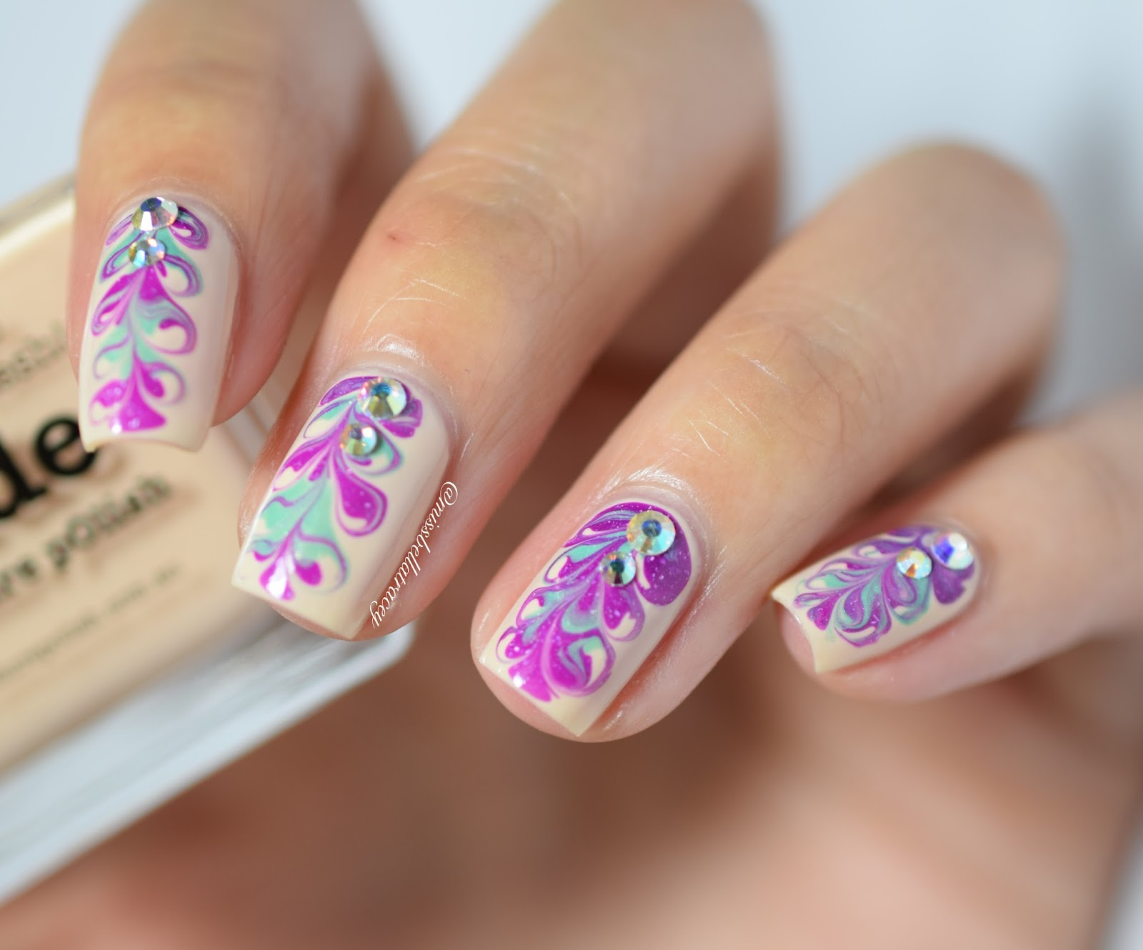 Missbellatracey wnac dry marble nail art the trick to this design is to make sure that you work with polishes that dont dry too quickly that way you have time to actually drag the polish before prinsesfo Gallery