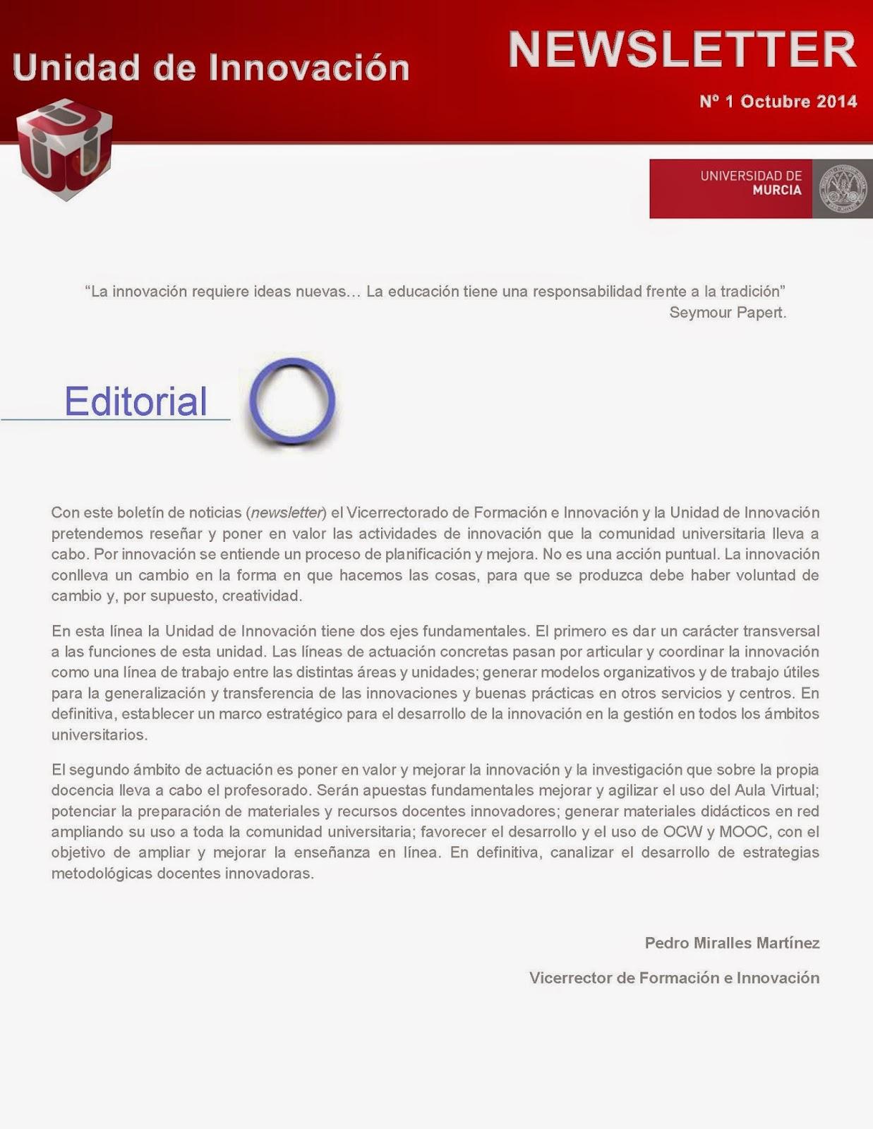 """""""Newsletter de Innovación"""""""