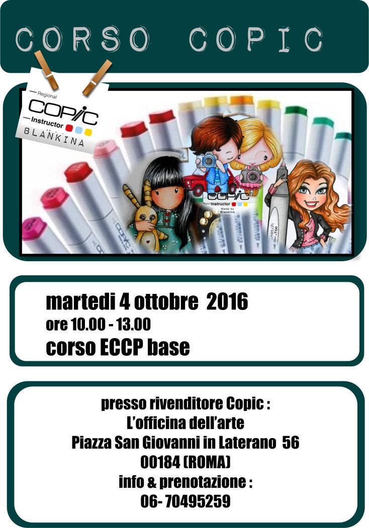 corso base Copic 4 ottobre a Roma