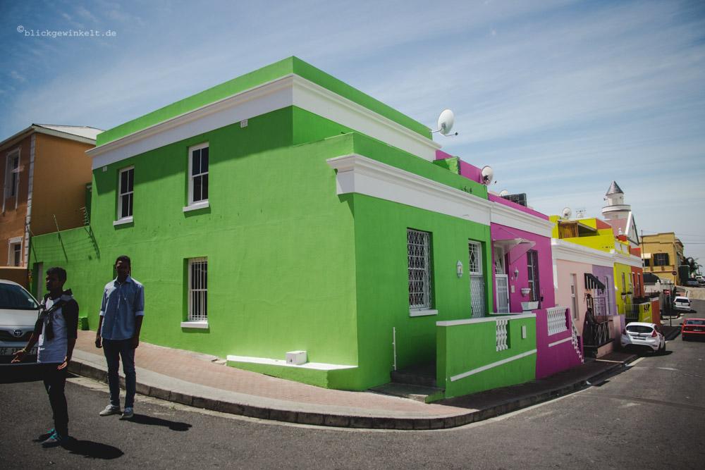 Bunte Häuser im Bo Kaap Viertel Kapstadts