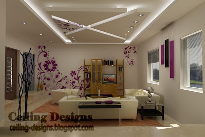 cool fall ceiling designs for living room from gypsum with hidden ...