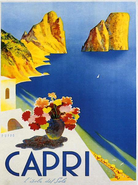 """capri"" Vintage Travel Posters"