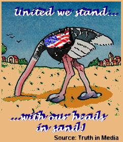 united we stand with our heads in the sand