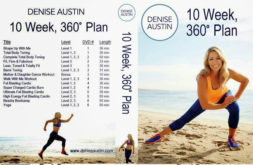 Fitness for the rest of us denise austin 39 s 10 week 360 for Plan 360