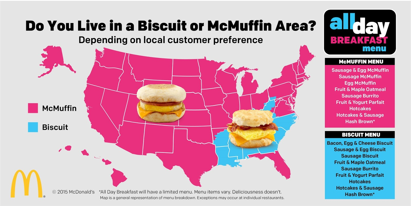 Do you live in a Biscuit or McMuffin area?