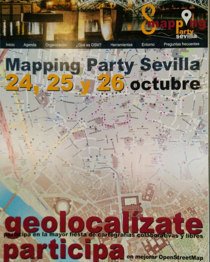 Cartel I Mapping Party Sevilla