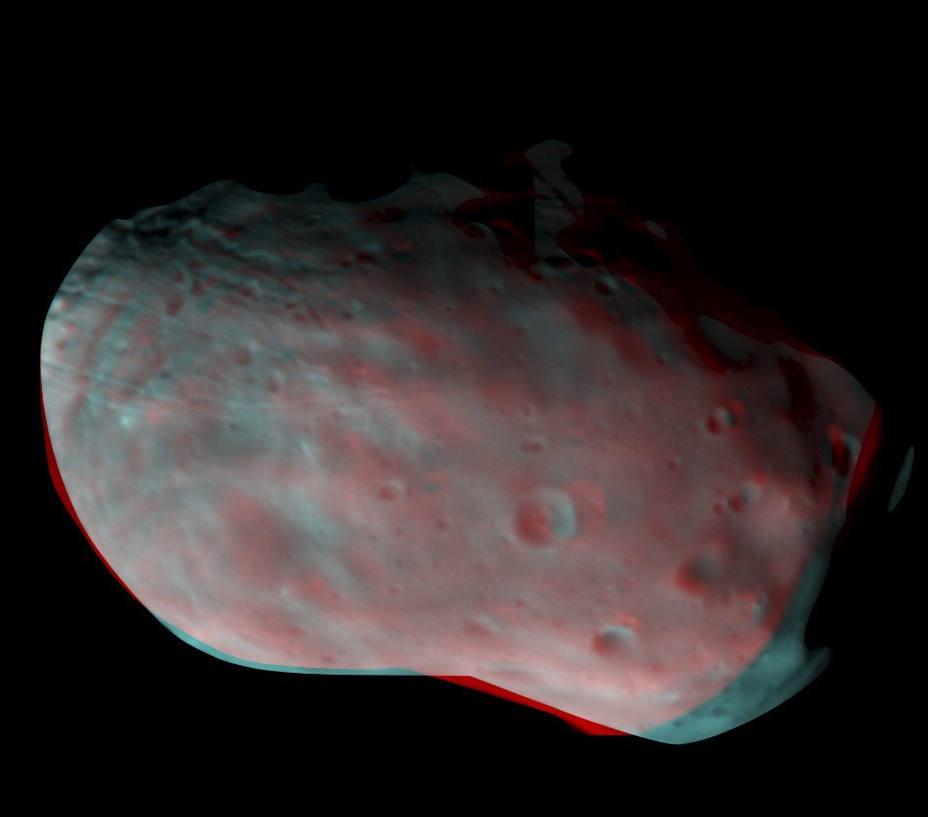 ExoMars tomó imágenes de la luna marciana Phobos