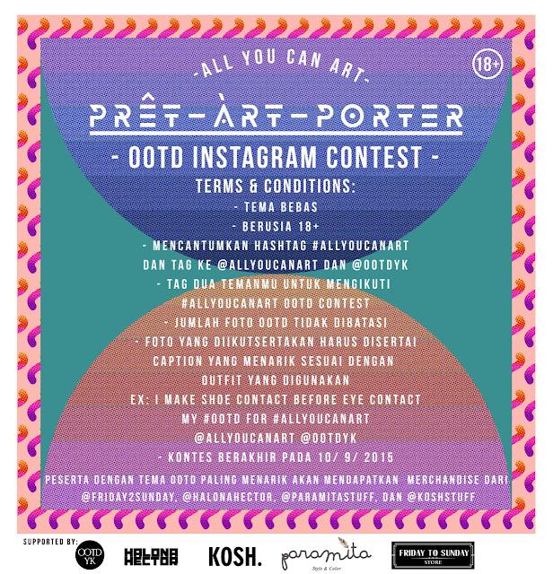 Ayo Ikutan OOTD Instagram Contest #AllYouCanArt