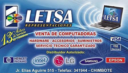 Representaciones Letsa - Venta de Computadoras