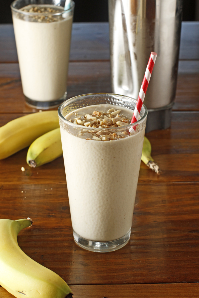 The Chubby Vegetarian: Peanut Butter + Banana Smoothie