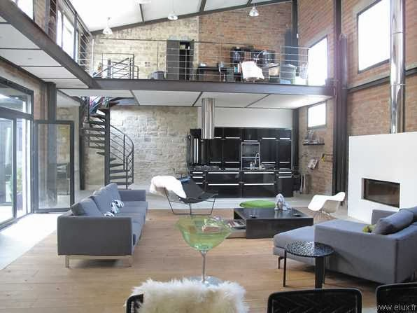 Design for loft 5 id es de mezzanines m tal pour loft for Construction maison industrielle