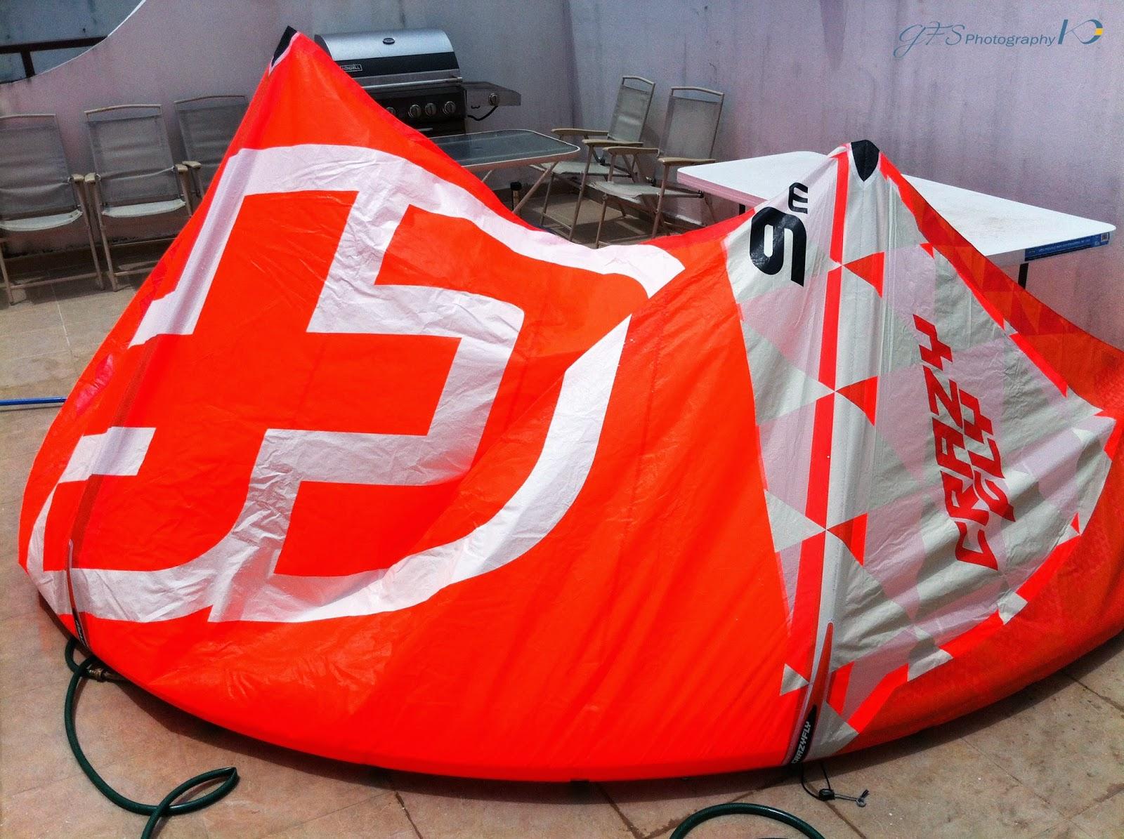 kite kitesurf drying