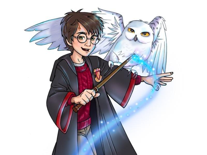 Harry Potter Cartoon Wallpaper