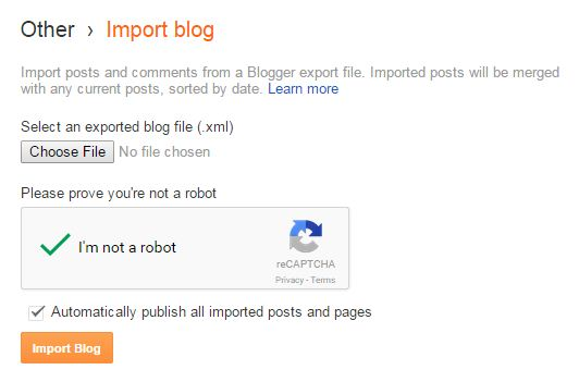 import blog - upload dummy content
