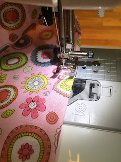 fabric, flowers, lining, sewing, machine