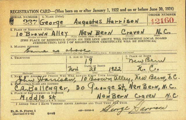 Military Monday: World War II Draft Registration Cards --John T. Harrison and George A. Harrison --How Did I Get Here? My Amazing Genealogy Journey