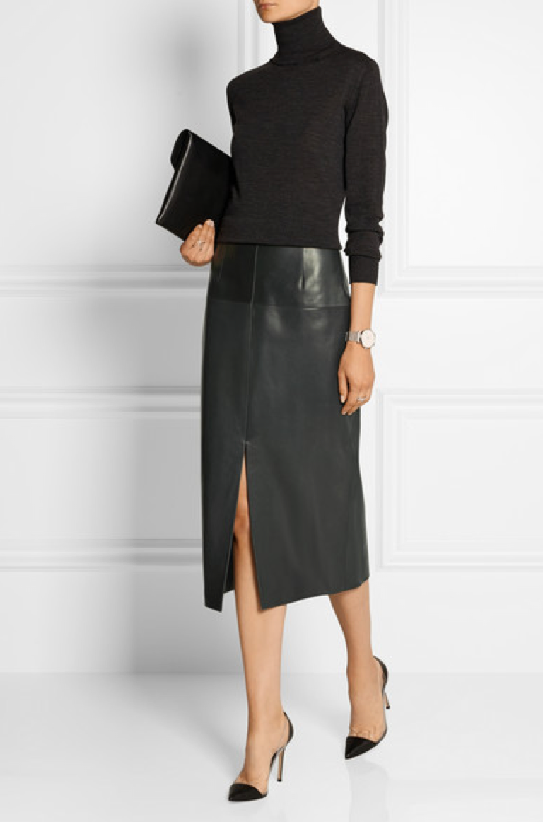 faux real fashion: The Front Runner Is – Jason Wu Leather Pencil Skirt