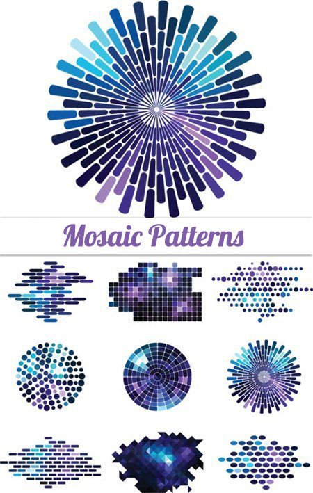 Quality graphic resources mosaic vector patterns for Mosaic patterns online
