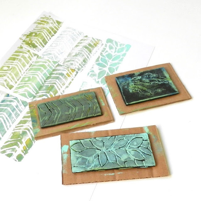 Recycled Styrofoam Stamps