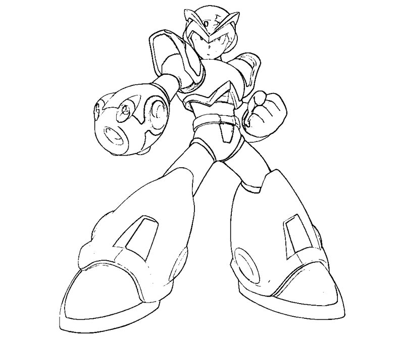 megaman free coloring pages