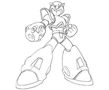 #22 Mega Man Coloring Page