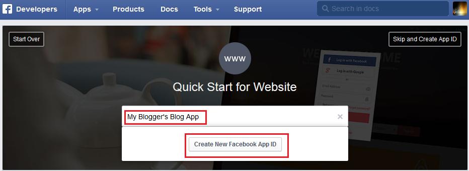 Facebook-App-ID-Name