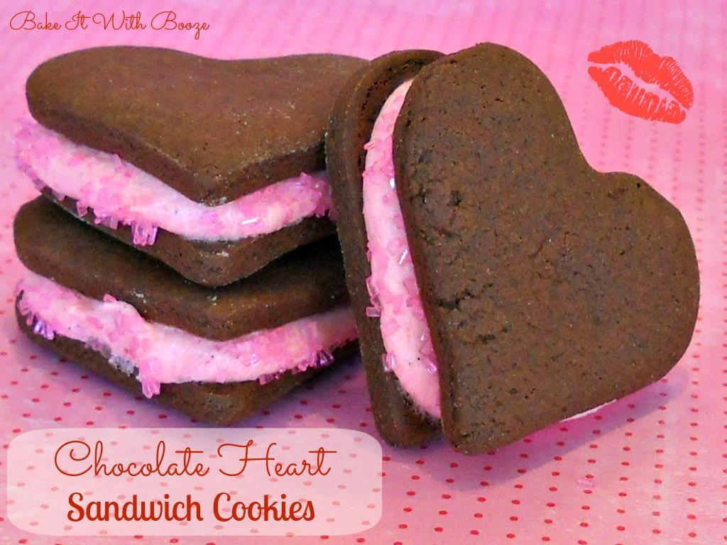 Recipe: Chocolate heart sandwich cookies