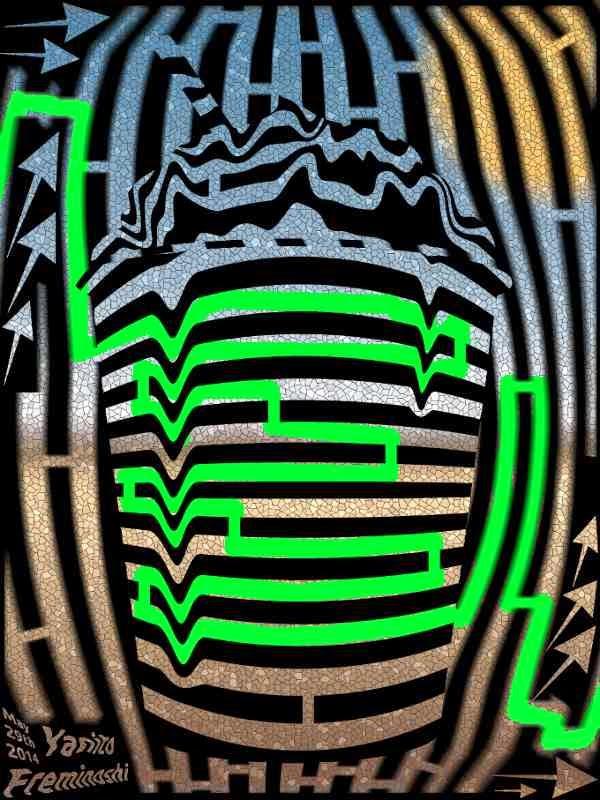 Maze Solution frozen maze art