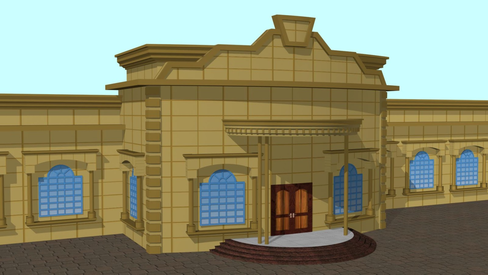 Restaurant Front View Design title=