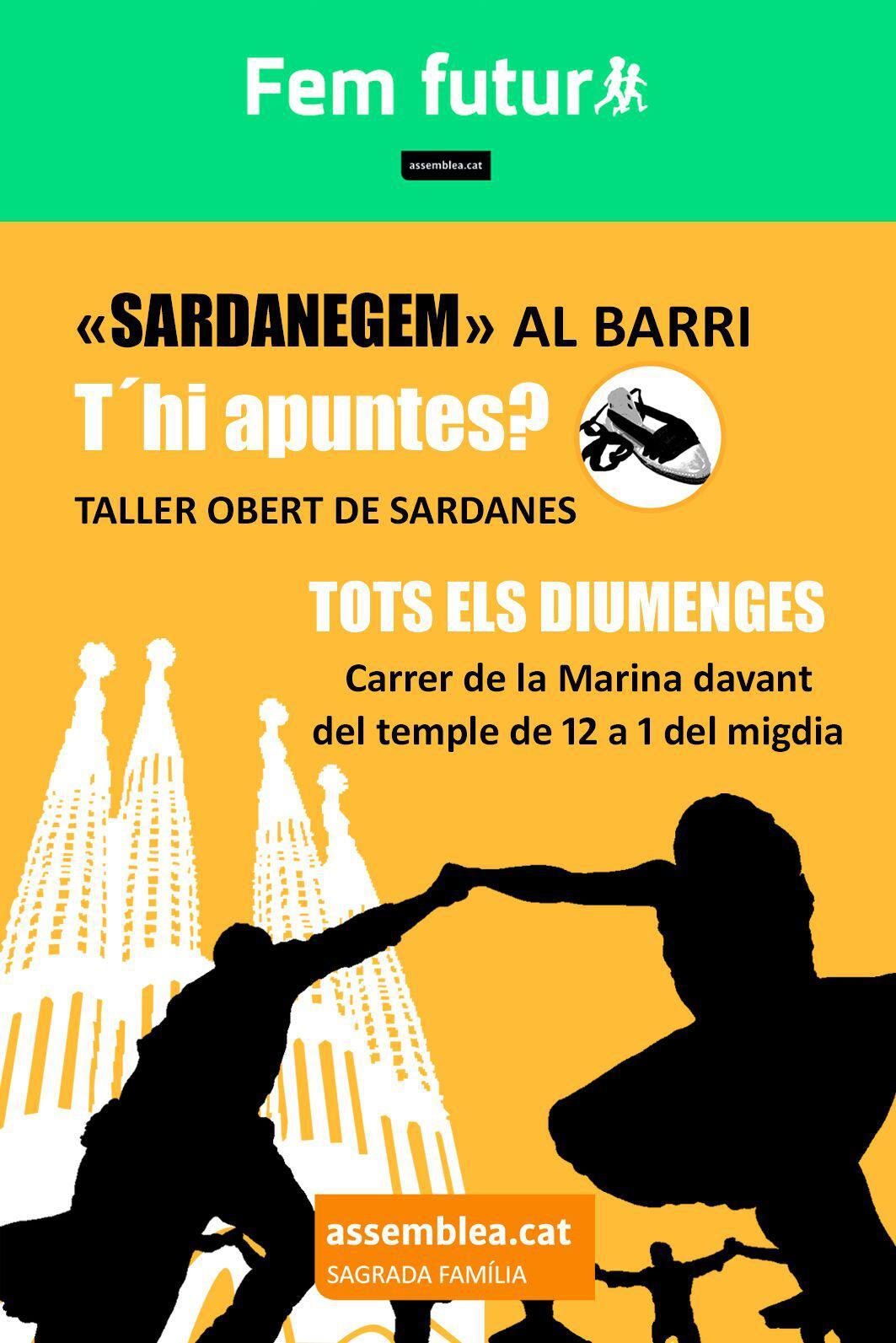 Torna «Sardanegem» al barri! Tots els diumenges de gener, febrer i març a les 12 del migdia