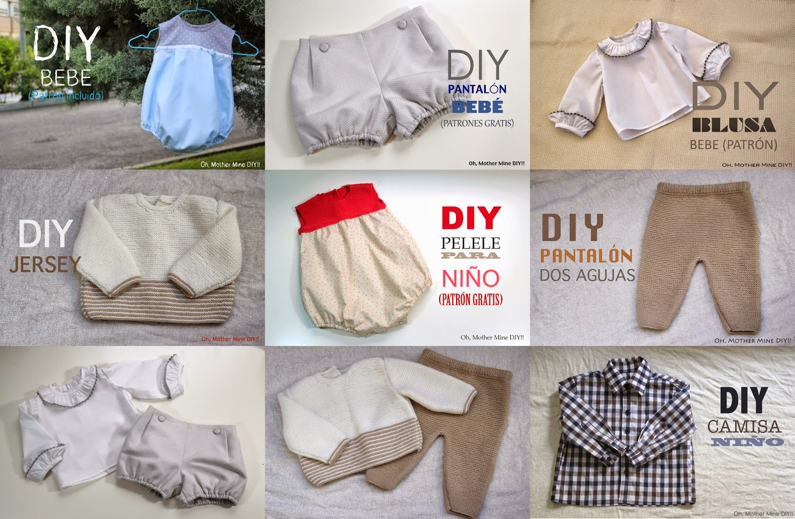 Blog costura y diy: Oh, Mother Mine DIY!!: Patrones y tutoriales ...