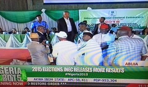 PDP Official Disrupts INEC Result Announcement