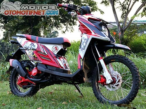 modifikasi motor yamaha x ride trail terbaru modifikasi