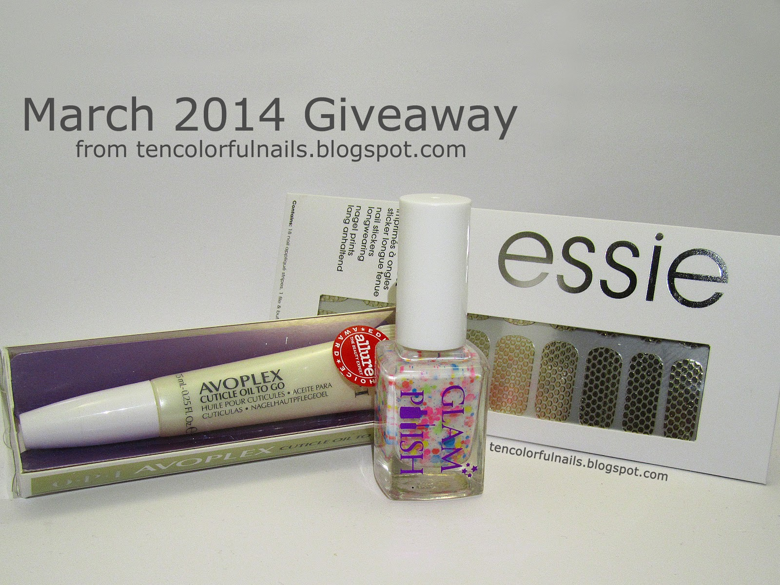 http://tencolorfulnails.blogspot.com/2014/03/march-2014-giveaway.html