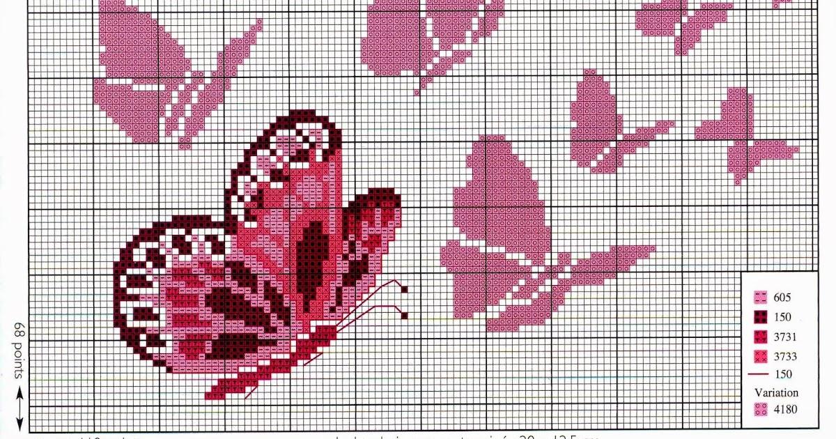 Farfalle a punto croce per bambini for Farfalle a punto croce per bambini