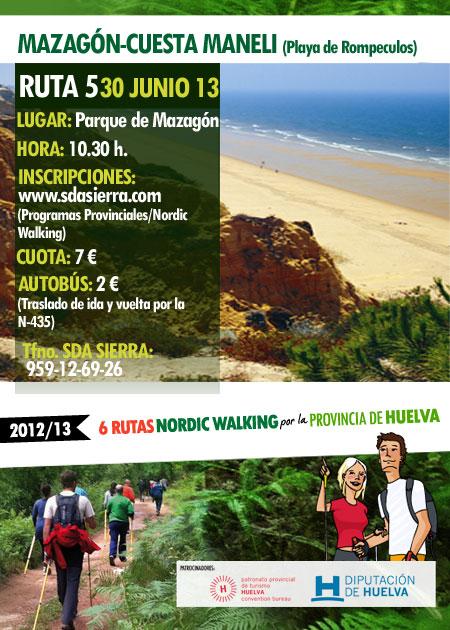 CURSO NORDIC WALKING CUESTA MANELÍ (MAZAGÓN)