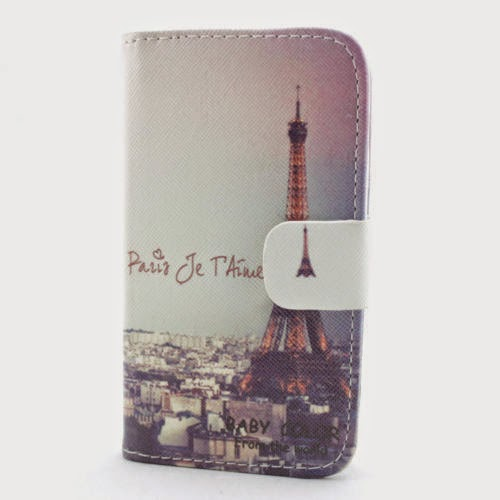 HOT classic eiffel leather flip wallet credit card case cover for htc nokia lg