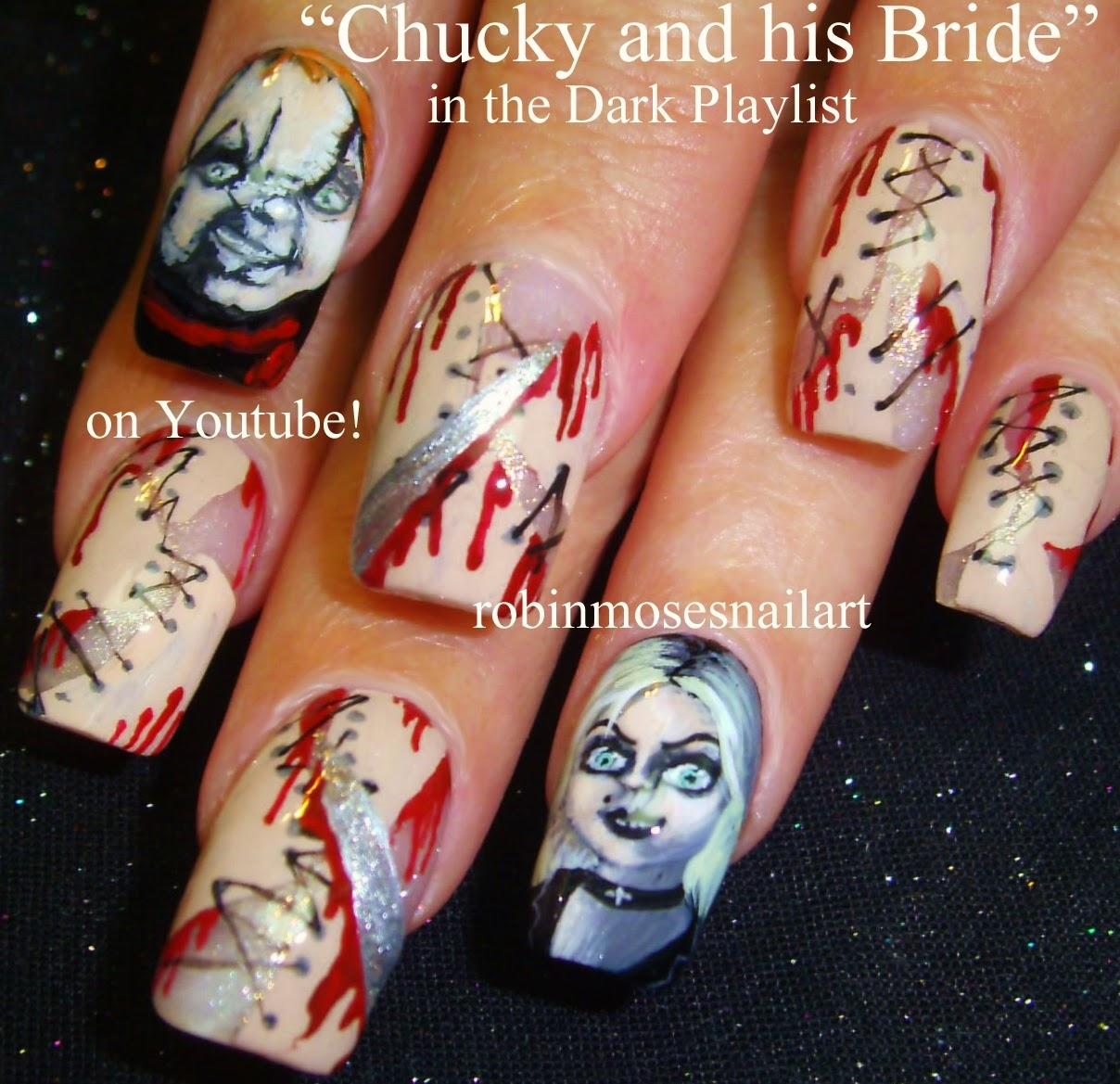"""Robin Moses Nail Art: """"Scary Nail Art"""" """"Halloween Nails"""