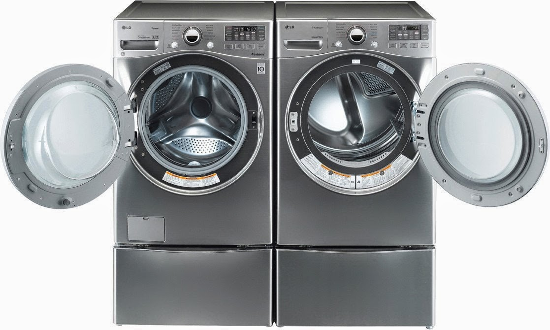 pair lg turbo series ultra laundry system with steam technology