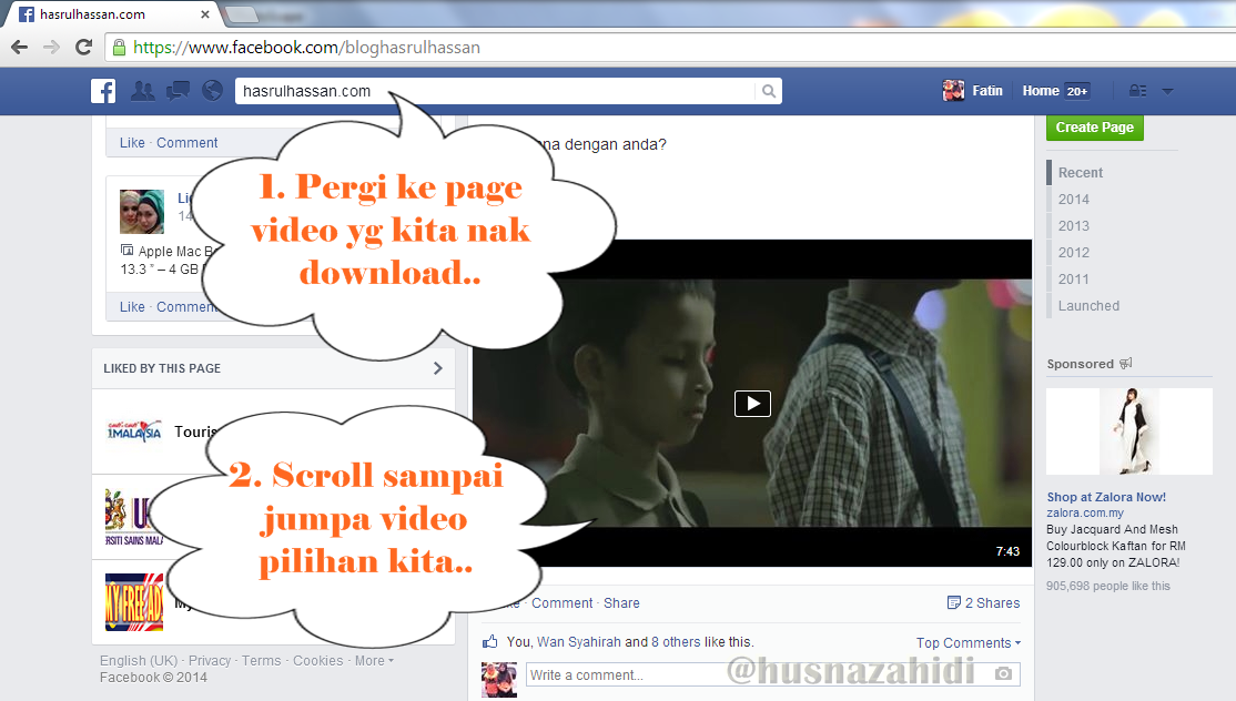 Tutorial Download Video Facebook Tanpa Guna Software
